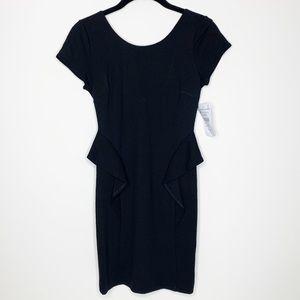 NWT Zara Peplum Silhouette Little Black Dress